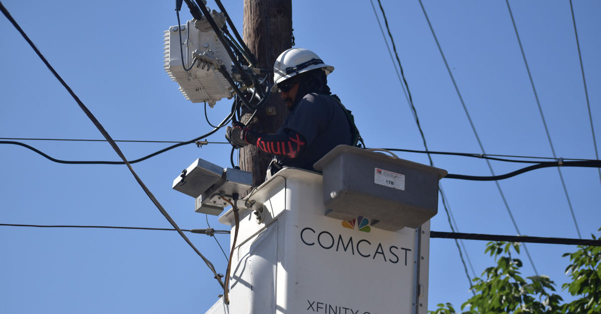 A Comcast XFinity cable technician.